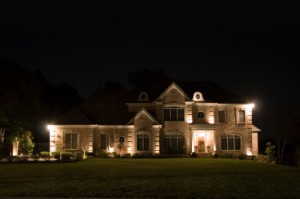 Chicago Electrician Illuminating The House Exterior With