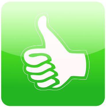 thumbs up good feedback